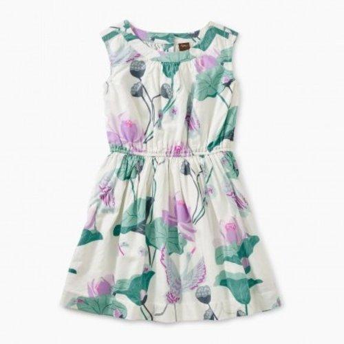 Tea Lotus Flower Woven Dress