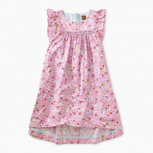Tea Printed Hi-Lo Woven Dress