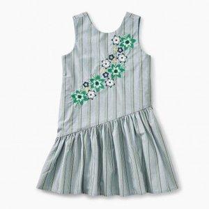 Tea Asymmetrical Skirted Dress