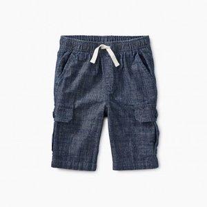 Tea Chambray Cargo Shorts