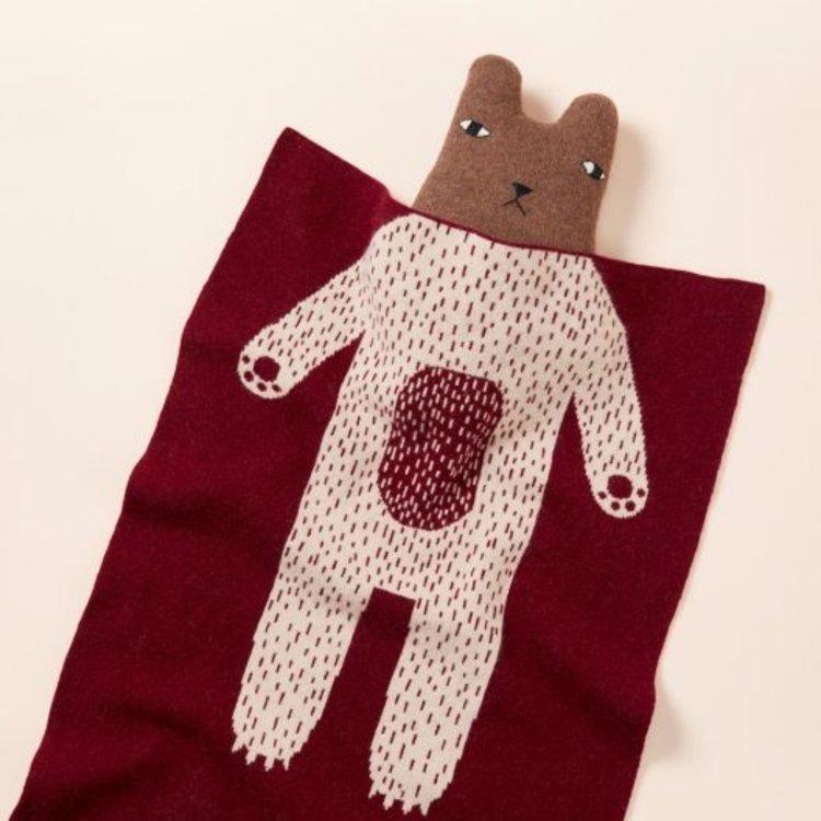 Lambswool Blanket-Mini Bear