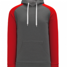 ATHLETIC KNIT AK A1840A AD HOODIE BK/RED LARGE