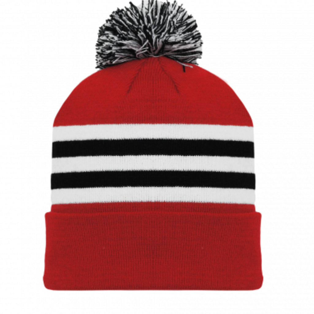 ATHLETIC KNIT AK A1830A AD TOQUE CHICAGO RED
