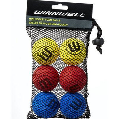 WINNWELL HOCKEY CANADA KNEE HOCKEY BALL EVA 6 PK