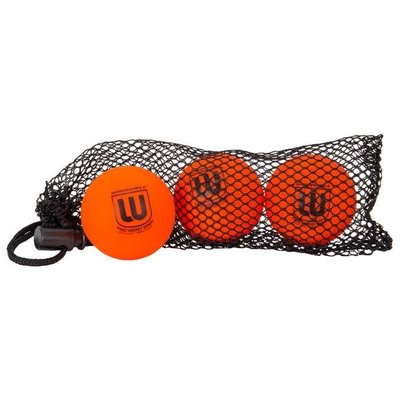 WINNWELL HOCKEY CANADA KNEE HOCKEY BALL PVC ORANGE 3 PACK