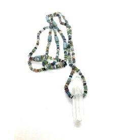 Precious Stones with Quartz Crystal