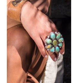 Medium Flower Navajo Ring
