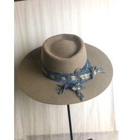 Antique African Indigo Band Hat