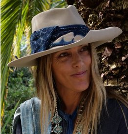 The Indigo Kerchief Hat