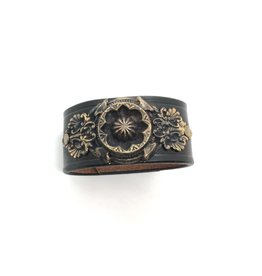 Large Leather Cuff Concha Style 6