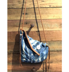 Kaia Bag Indigo Faded Stripes and Spots
