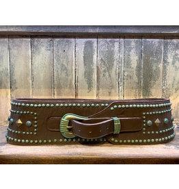 Double D Ranch Green Stud Belt