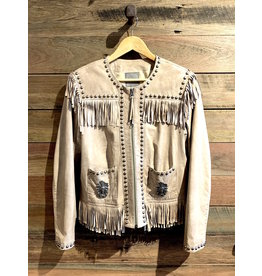 Double D Ranch Studded Tassel Leather Jacket