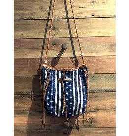 CeCe Bag Indigo Stripes and Spots