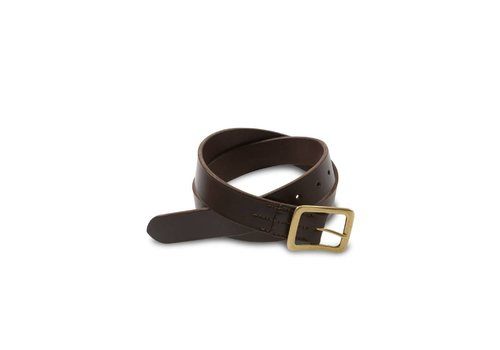 Red Wing Shoes Dark Brown Narrow Vegetable Tanned Leather Belt 96561