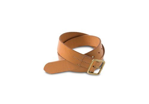 Red Wing Shoes Natural Tan Vegetable Tanned Leather Belt 96563
