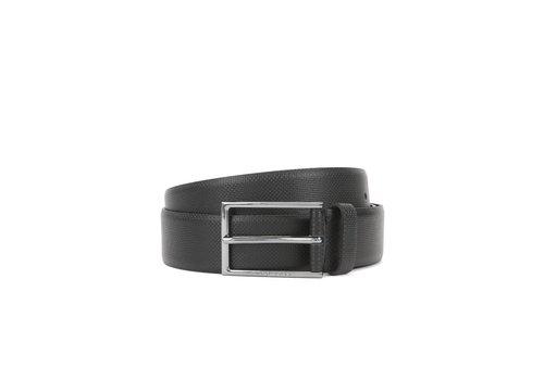 Hugo Boss Leather Printed Belt Carmello S Black