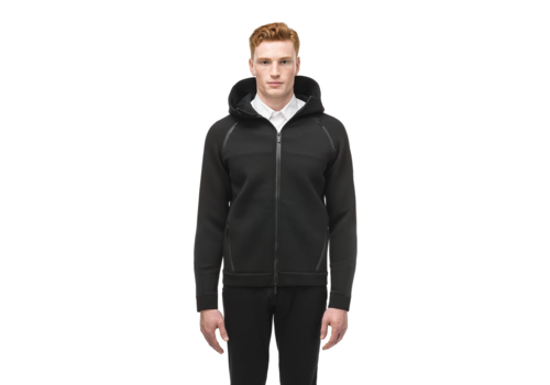 Nobis Men's Zip Front Hoody IAN Black