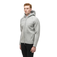 Men's Zip Front Hoody IAN Grey