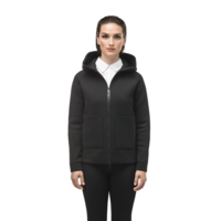 Ladies Zip Front Hoody MINA Black