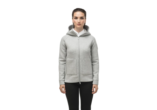 Nobis Ladies Zip Front Hoody MINA Grey