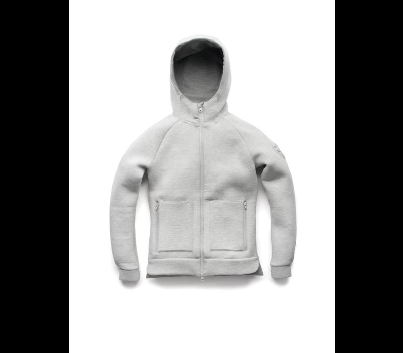 Ladies Zip Front Hoody MINA Grey