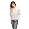 Nobis Ladies Military Cropped Jacket ISABELLA Camel