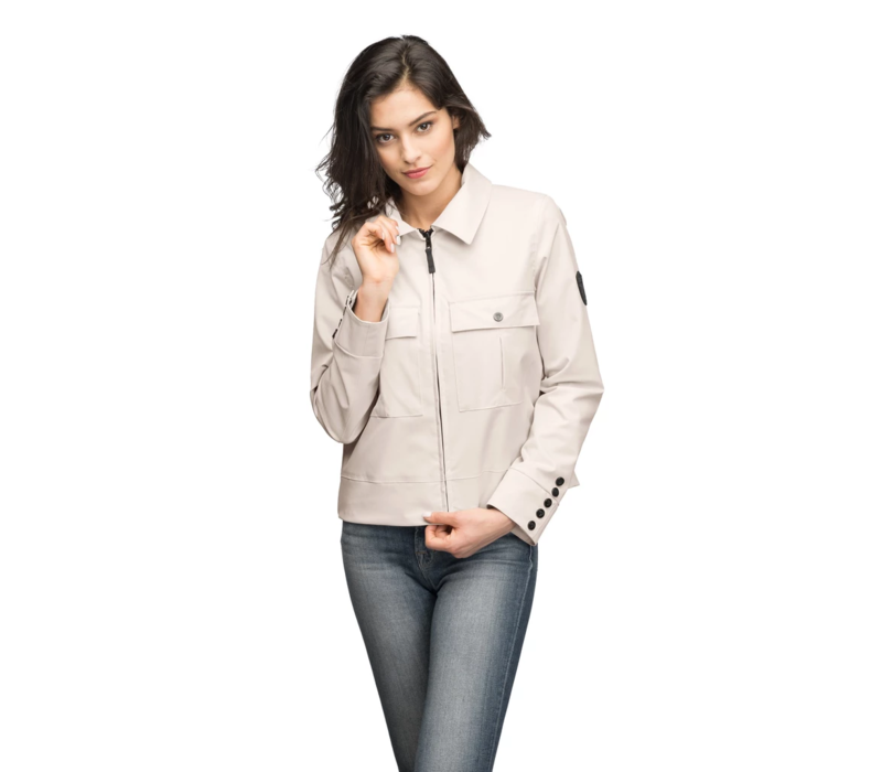 Ladies Military Cropped Jacket ISABELLA Camel