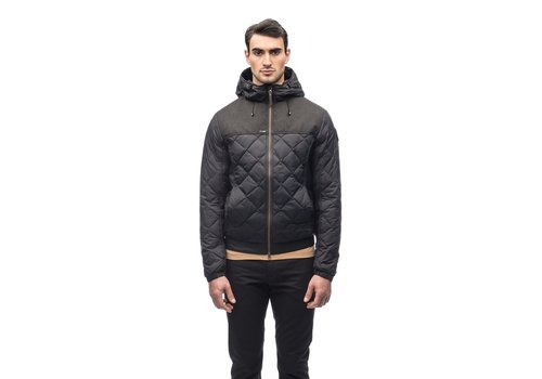 Nobis Elroy Men's Quilted Hooded Jacket MKSTF0506-BLK