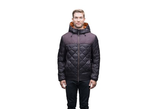Nobis Elroy Men's Quilted Hooded Jacket MKSTF0506-BURG