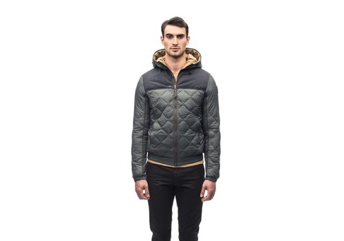 Nobis Elroy Men's Quilted Hooded Jacket MKSTF0506-NVY