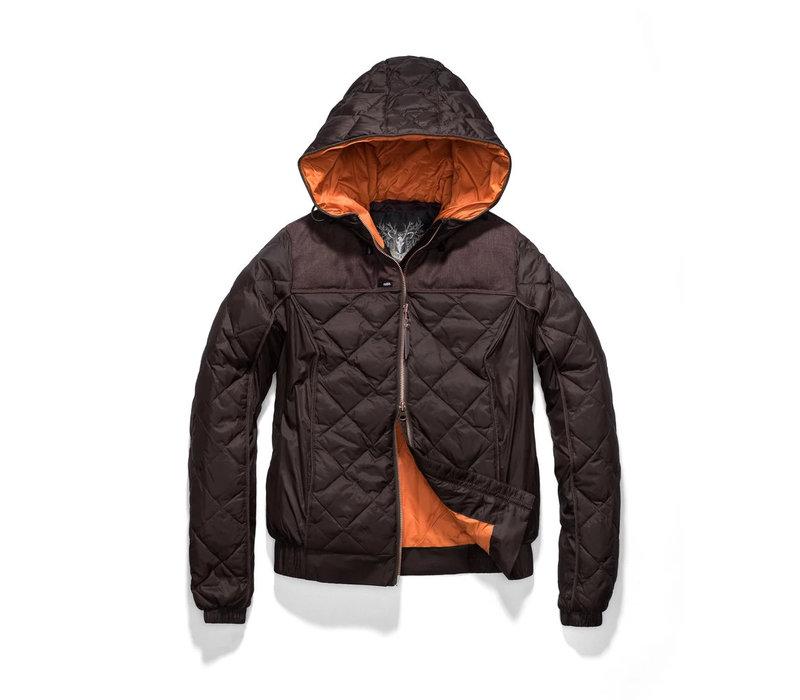 Elle Ladies Quilted Hooded Jacket SHFTF0471-BRN