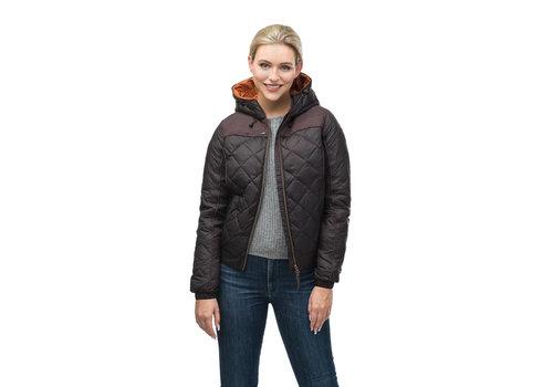 Nobis Elle Ladies Quilted Hooded Jacket SHFTF0471-BRN