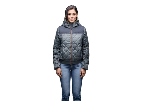 Nobis Elle Ladies Quilted Hooded Jacket SHFTF0471-NVY