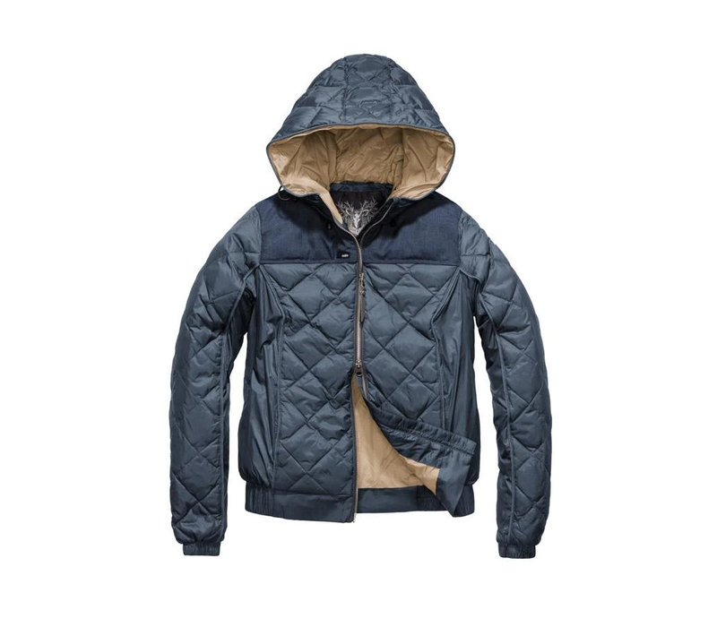 Elle Ladies Quilted Hooded Jacket SHFTF0471-NVY