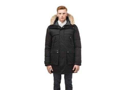 Nobis Yatesy Men's Long Parka Ch Black