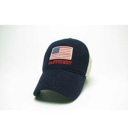 Legacy Legacy Cap Vintage Wool Flannel Trucker American Flag