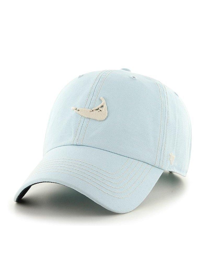 47 Brand 47 Brand island shape hat. Island shape logo on front. Nantucket written on adjustable strap on back. One size fits all.