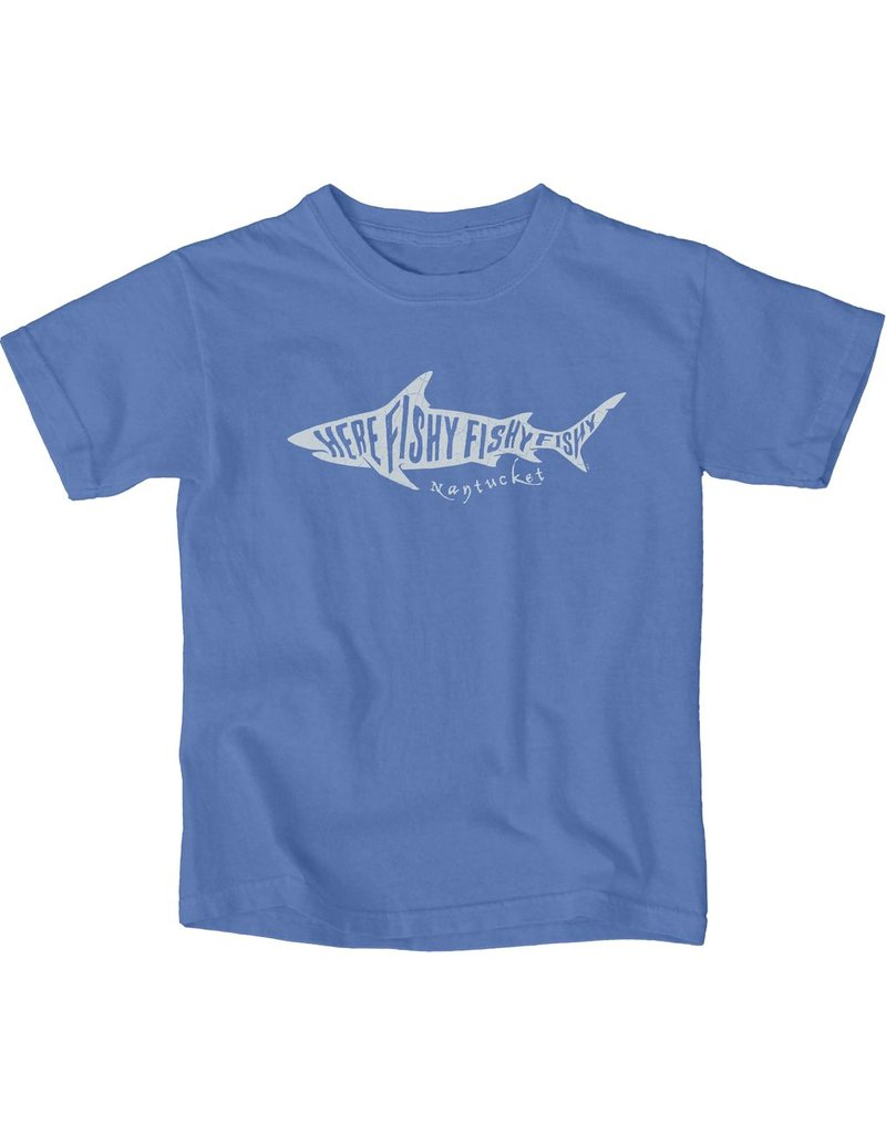 Lakeshirts Blue 84 Youth Tee Here Fishy Fishy
