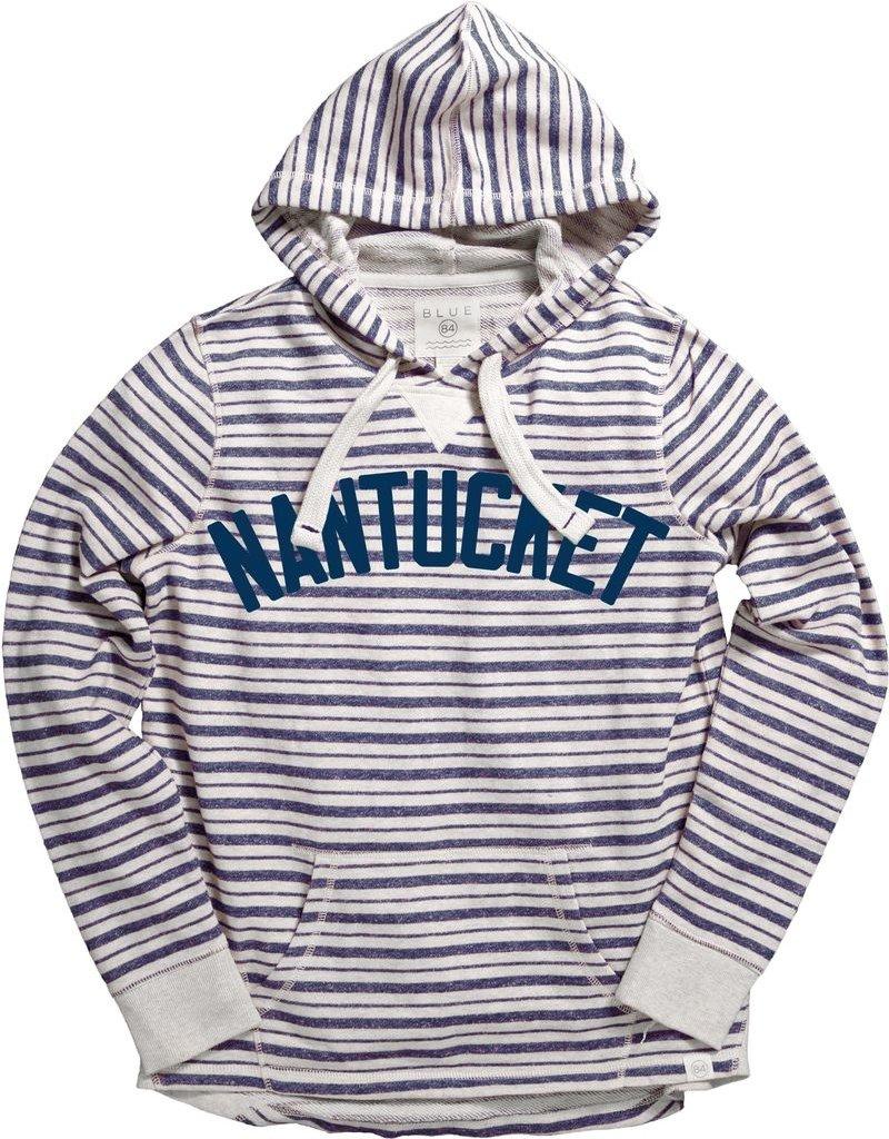 Lakeshirts Blue 84 Ladies French Terry POH Striped Gordon Font Twill Nantucket Arc