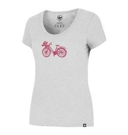 47 Brand 47 Ladies Scrum Scoop Tee Bike/Flower