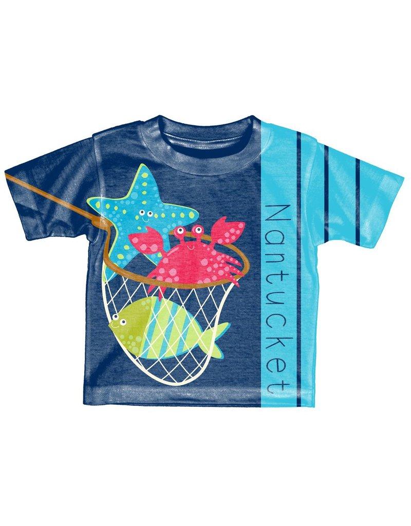 Lakeshirts Blue 84 Toddler Sublimated Tee Jambalaya Sea Critters
