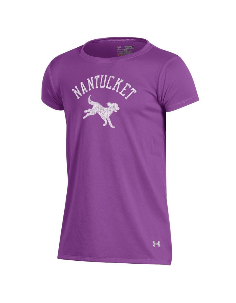 Under Armour UY0693 Under Armour Youth Tech Tee Running Dog