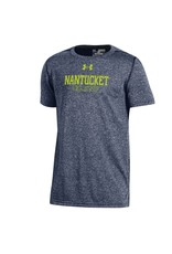 Under Armour UY2400 Under Armour Youth Threadborne Roving Tee, Straight Nantucket Over Outline 'Island'