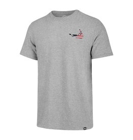 47 Brand 47 Mens Throwback Tri-Blend Tee, Lch Island Flag