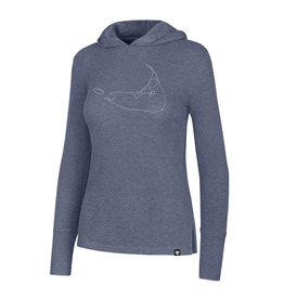 47 Brand 47 Ladies Ribbed Campbell LST POH Outline Island <br /> Lightweight relaxed polyester blend