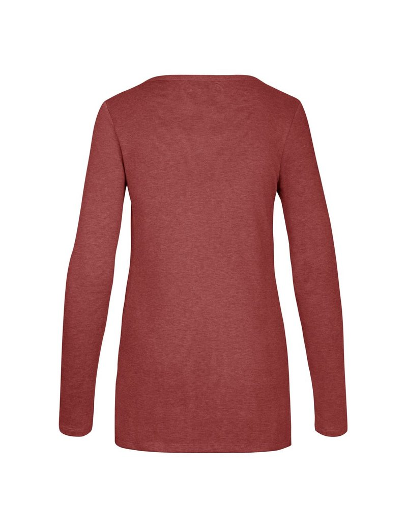 47 Brand 47 Brand's poleyster blend ribbed longsleeve with waist slits for a relaxed fit