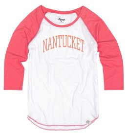 Legacy Legacy Ladies Tri-Blend Raglan 3/4 Sleeve Nantucket Arc