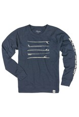 Legacy Legacy Mens French Terry CN Stacked Surfboards Nantucket Sleeve