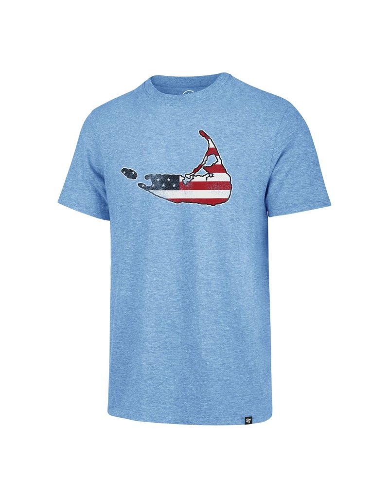 47 Brand 47 Mens Throwback Tri-Blend Tee, Big Island Flag